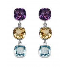 Gem Trio Earrings