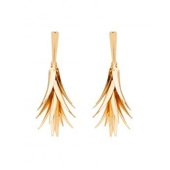 Golden Feathers Earrings
