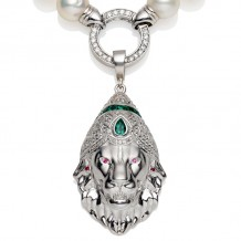 Lion's Head Prayer Pendant